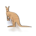 Australian jewellery - Australian kangaroo brooch - laser cut wood - Made in Aus