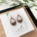 Teardrop earring - dangle earrings - drop earrings - wooden earings - laser cut