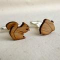 Cufflinks - Wedding cufflinks - Wood Cufflinks - Groom Wedding - lasercut wooden