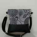 Black and Grey Cossbody Tote