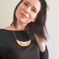 Statement necklace - wooden necklace - wooden jewelry -  wooden pendant - laser