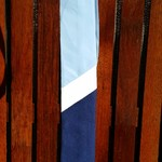 Mens Tie - navy blue, sky blue and white