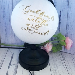 Personalised globe lamp, add your own message, beautiful in nursery or bedroom