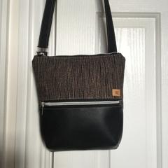 Black & Brown/Black Cross Body Bag