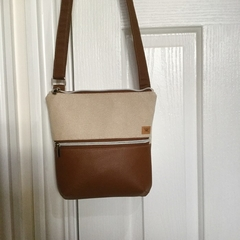 Cream & Tan/Tan Cross Body Bag