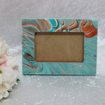 Aqua and Copper Picture Frame