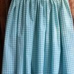 Mint Gingham Skirt - size 10