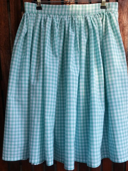 Mint Gingham Skirt - size 10