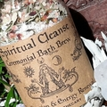 Spiritual Cleanse ~ Organic Botanical Bath Brew | Purification & Energy Renewal