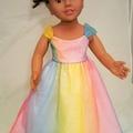 Fairy Princess Gown - Rainbow
