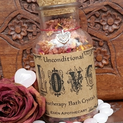 The Alchemy of LOVE ~ Aromatherapy Bath Crystals | Ceremonial Bath Brew