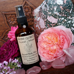 Rose Quartz + Rose Otto ~ Aromatic Crystal Alchemy | Sacred Face & Body Mist