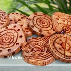 Indigenous Inspired Pattern Matching  Wood Rounds