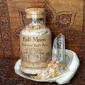 Full Moon Organic Botanical Bath Brew ~ Crystal Infused | Lunar Bathing Ceremony