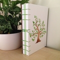 Watercolour painted tree handmade notebook