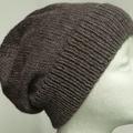 Unisex adult hand knit Slouchy-beanieStellar 4/4