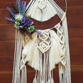 Bridesmaids Floral Macrame Hoop