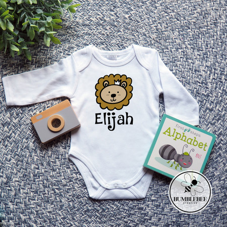 Personalised Baby Name Bodysuit. Great new born baby arrival unique gift idea.