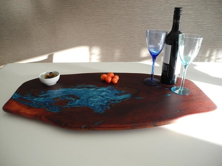 Jarrah Wood and Resin Grazing Board Serving Platter Food Board