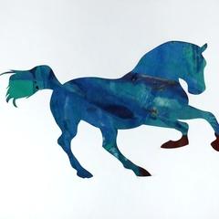 Blue Running Horse