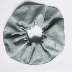 Light grey scrunchie - soft Linen size M/L