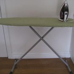 Green Geometric Ironing Board Cover
