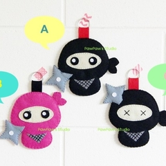 Ninja Keyring Ornament Bag Charm Nursery Home Decor Birthday Gift Christmas