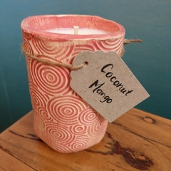 "Pottery Soy Candle ""Coconut Mango"""