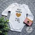 New Grandparents Pregnancy Announcement  Baby Bodysuit. 8 Designs