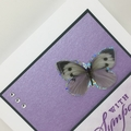 Sympathy Card - Lavender Tones, Butterfly, Chiyogami