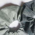 Light grey scrunchie - soft Linen size M/L