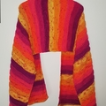 Hand knit summer sunset wrap