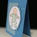 Baby Boy Card - Teddy Bear Romper
