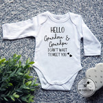 New Grandparents Pregnancy Announcement  Baby Bodysuit. 8 Designs