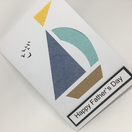 Father's Day Card - Paper Pieced Sailboat