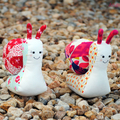 Snail Softie HARD COPY Paper Sewing Pattern Sandy the Snail Sewing Pattern
