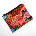Small Coin Purse in Colourful Indigenous Dot Print fabric