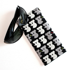 Padded Sunglasses Pouch in Lovely Koala Fabric