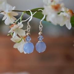 •#blue chalcedony earrings#•