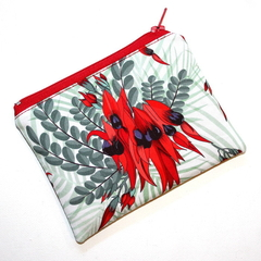 Small Coin Purse in Beautiful Sturt Desert Pea fabric
