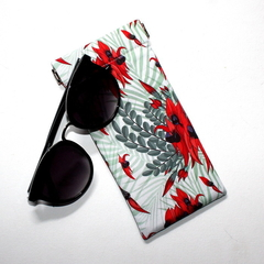 Padded Sunglasses Pouch in Beautiful Sturt Desert Pea Fabric