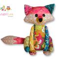Francie the Fox Softie HARD COPY Paper Sewing Pattern, Stuffed Animal Pattern