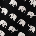 Padded Sunglasses Pouch in Cute Fabric with Tiny Elephants