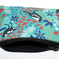 Small Coin Purse in Lovely Magpie fabric