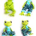 Fergus the Frog Pattern HARD COPY Paper Sewing Pattern Stuffed Animal