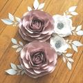 Set of 4 Roses and Garden Roses/ Nursery Decor/ GIrl's Room Decor