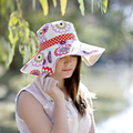 Ladies Sun Hat HARD COPY Paper Sewing Pattern Womens Wide Brimmed Hat Pattern