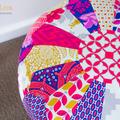 Patchwork Pouf HARD COPY Paper Sewing Pattern Moroccan Ottoman Pattern
