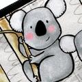 Small Coin Purse in Cute Koala Fabric