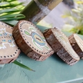 Indigenous Inspired Australian Animals Hand Painted On Reclaimed Wood Rounds